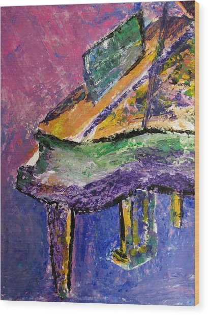 Piano Purple - Cropped Wood Print