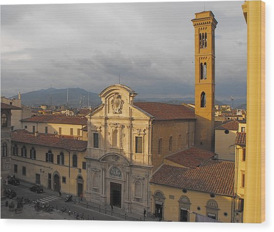 Piazza D'ognissanti Wood Print