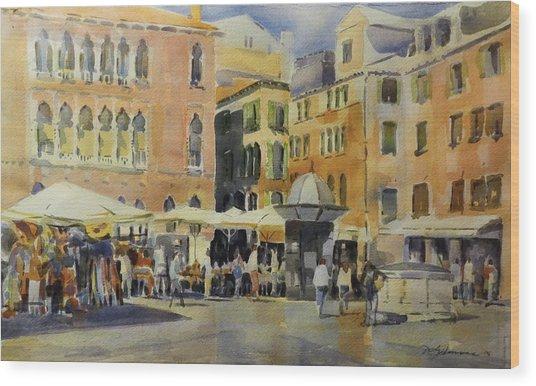 Piazza San Angelo Wood Print