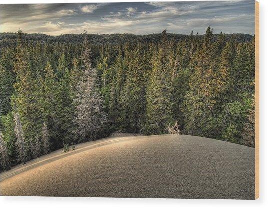 Pic Dunes   Wood Print