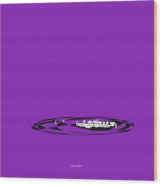 Piccolo In Purple Wood Print