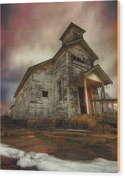 Picher Christian Church Wood Print