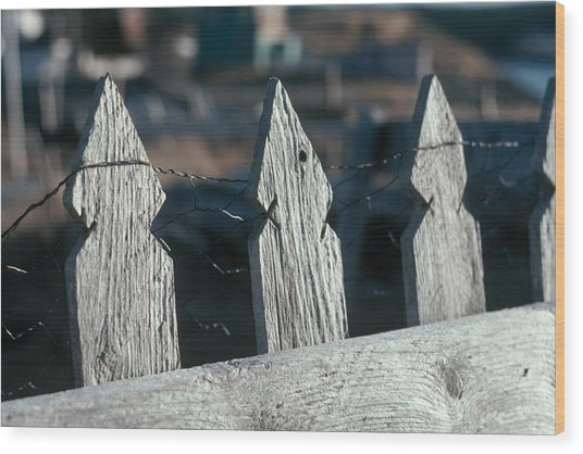 Picket Fence Wood Print by Douglas Pike