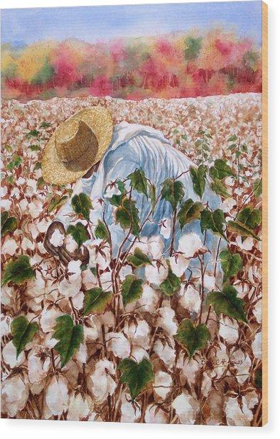 Picking Cotton Wood Print