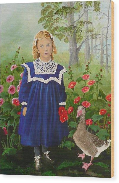 Picking Flowers Wood Print by Virginia Sincler