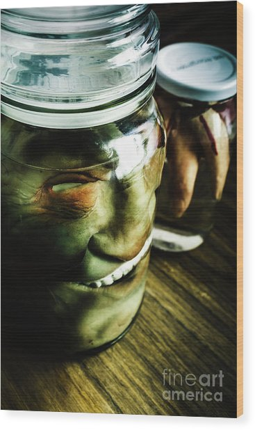 Pickled Monsters Wood Print