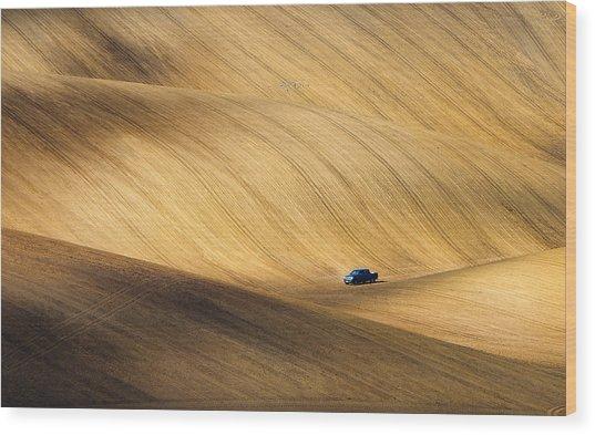 Pickup Wood Print