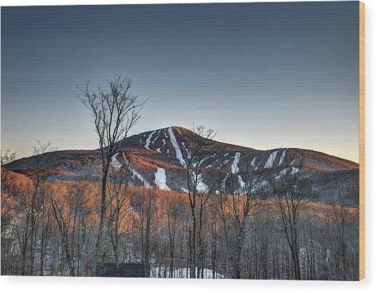 Pico Peak Wood Print