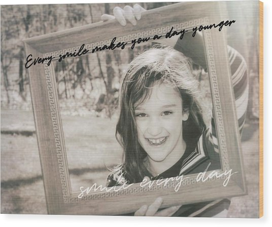 Picture Perfect Quote Wood Print by JAMART Photography