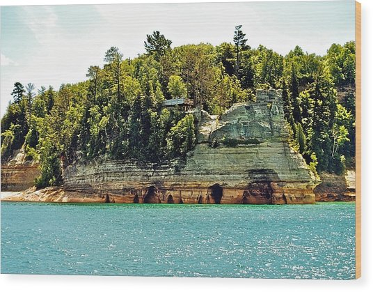Pictured Rock 6323  Wood Print