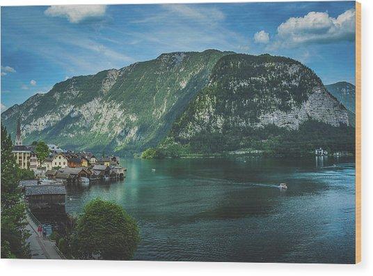 Picturesque Hallstatt Village Wood Print
