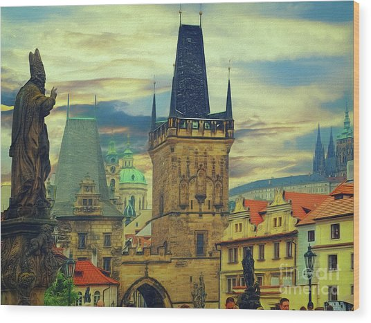 Picturesque - Prague Wood Print
