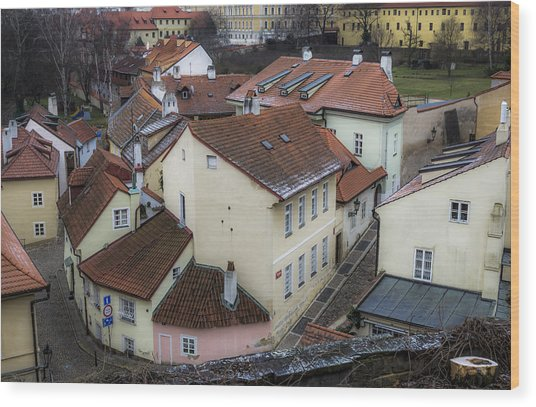 Picturesque Quarter Close To Prague Castle Wood Print by Marek Boguszak
