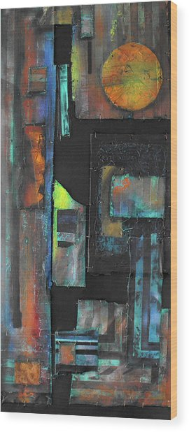 Pieces IIi Wood Print by Ralph Levesque