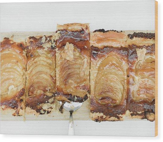 Pieces Of Apple Tart Wood Print