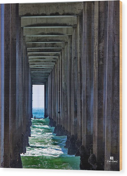 Pier - In The Box Wood Print