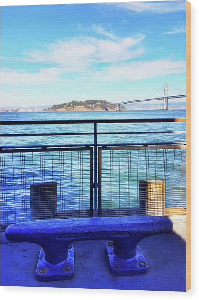 Pier 1 Blue - Limited Run Wood Print by Lars B Amble