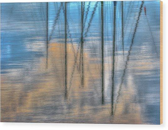 Pier 38 Wood Print