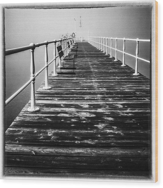 Pier At Pooley Bridge On Ullswater In The Lake District Wood Print