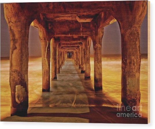 Pier Beauty Wood Print by Larry Young