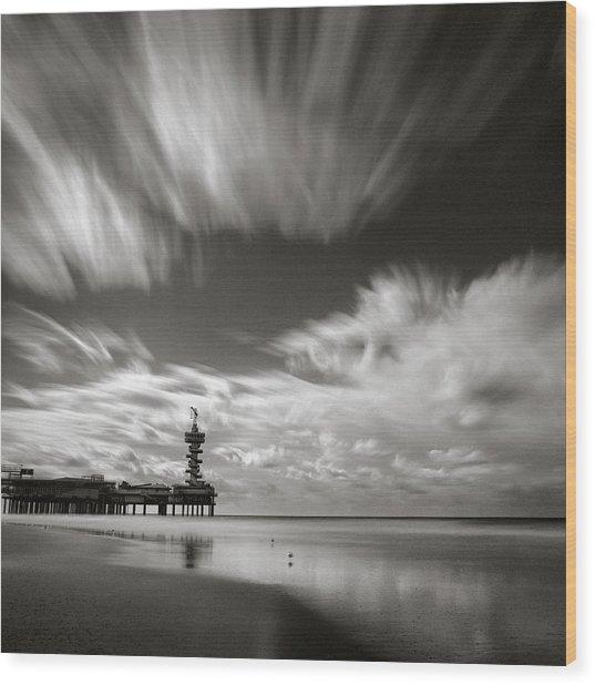 Pier End Wood Print