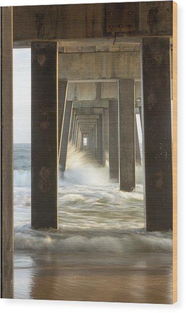 Pier Energy Wood Print