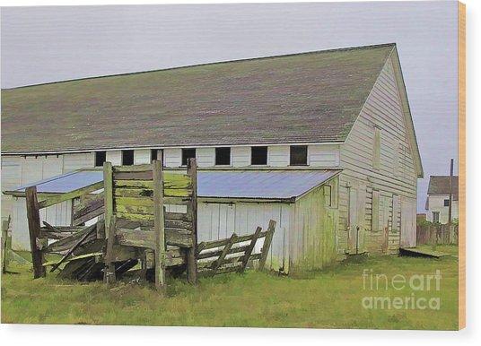 Pierce Pt. Ranch Barn Wood Print