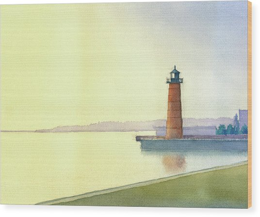 Pierhead Lighthouse, Milwaukee Wood Print