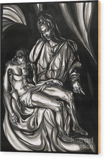 Pieta Wood Print by Keith  Thurman