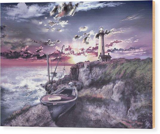 Pigeon Point Lighthouse 3 Wood Print