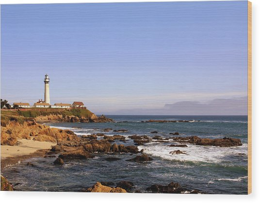 Pigeon Point Lighthouse Ca Wood Print