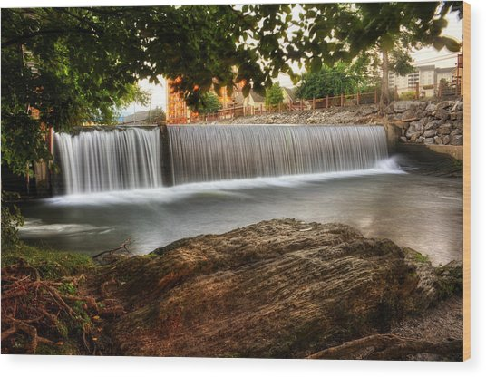 Pigeon River At Old Mill Wood Print