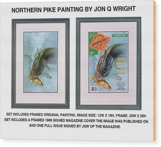 Pike And Perch Wood Print by JQ Licensing