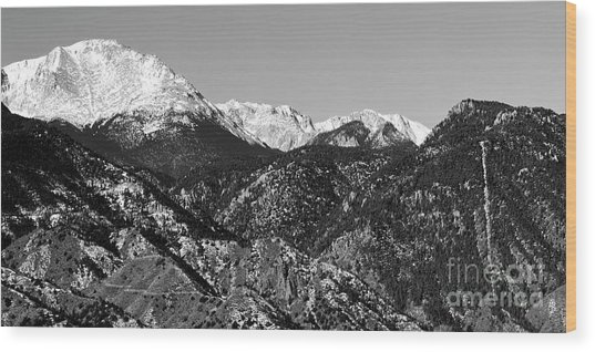 Pikes Peak And Incline 36 By 18 Wood Print