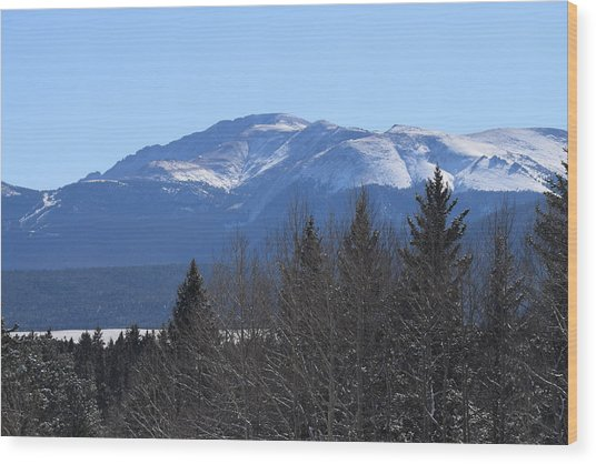 Pikes Peak Cr 511 Divide Co Wood Print