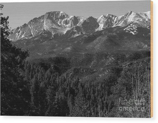 Pikes Peak Spring Wood Print