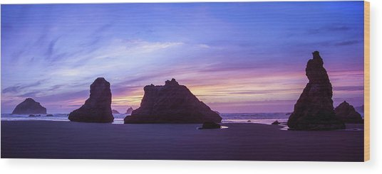 Pillars Of Bandon Wood Print