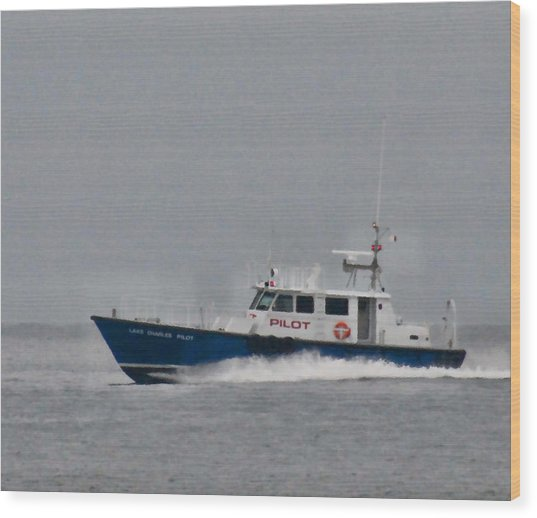 Pilot Boat Wood Print by Bill Perry