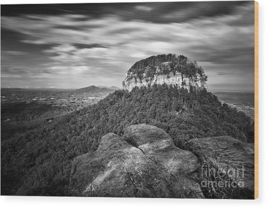 Pilot Mountain 1 Wood Print