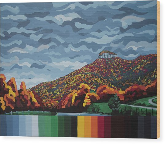 Pilot Mountain Fall Wood Print