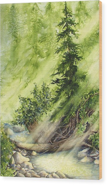 Pine Creek Wood Print