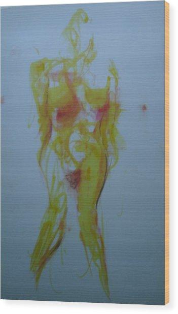 Pineapple In Process Wood Print by Dean Corbin