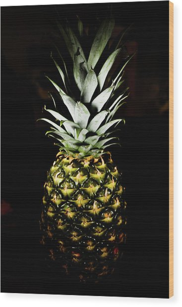 Pineapple In Shine Wood Print