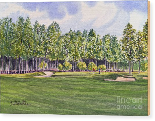 Pinehurst Golf Course 17th Hole Wood Print