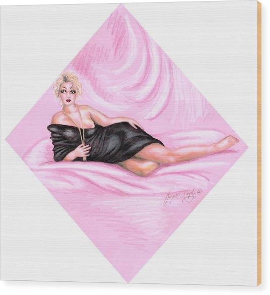 Pink Allure Wood Print by Scarlett Royal