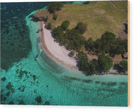 Wood Print featuring the photograph Pink Beach Island, Flores by Pradeep Raja PRINTS