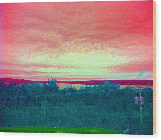 Pink Clouds Wood Print by Allison Prior