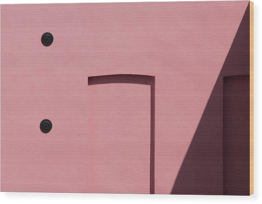 Pink Emoji Wood Print