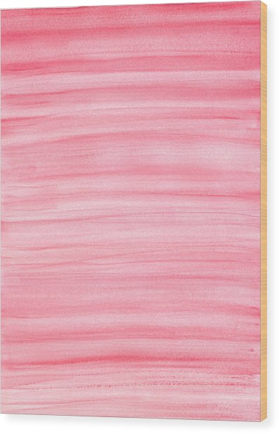 Pink Wood Print by Eric Forster
