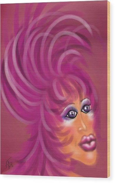 Pink Flamingo Wood Print by Ronald Terrel